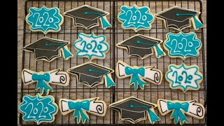 Graduation Themed Sugar Cookie Set From Cookies By Grace