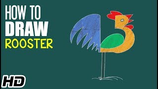 How To Draw ROOSTER (मुर्गा ) Cartoon For Children | Step By Step Drawing | Shemaroo Kids Hindi