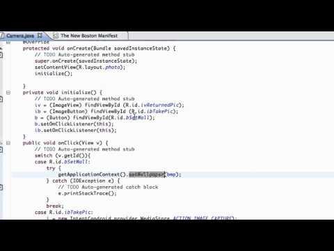 Android Application Development Tutorial - 42 - Using BitmapFactory and InputStream to set Bitmap
