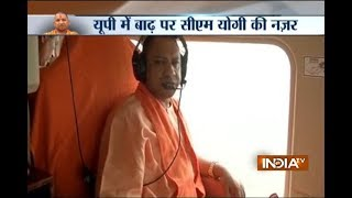 CM Yogi Adityanath conducts aerial survey of flood affected areas in UP
