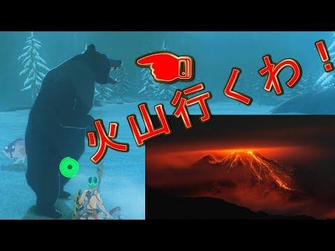 雪山の熊を火山二合目まで連れて行き温泉に入れる+雪山の熊のHP測る【ゼルダの伝説ブレスオブザワイルド】検証 実況