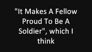 Tom Lehrer: It Makes A Fellow Proud To Be A Soldier (concert live) (1959)
