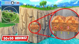 HIDING IN 50v50! *GONE WRONG* (Fortnite FAILS & WINS #19)
