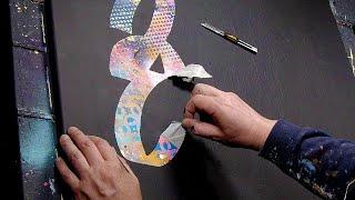 GRAFFITI INSPIRED / SPRAY PAINT / STENCIL / POP ART PAINTING | Beks