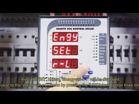 RG3-15 CLS Power Factor Controller Entering Capasitive Reactive Energy Index Value