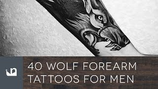 40 Wolf Forearm Tattoos For Men