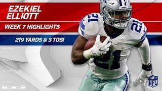 Ezekiel Elliott Explodes for 219 Total Yards & 3 TDs!   Cowboys vs. 49ers   Wk 7 Player Highlights
