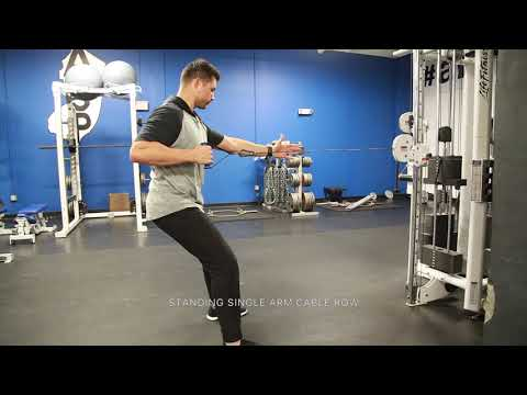 Standing Single Arm Cable Row