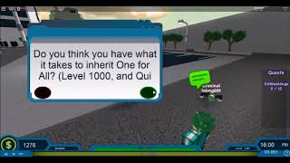 Roblox Blox No Hero academia   One For All Moves - Most