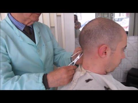 Italian barber shop - scissors, hair dryer sounds - ASMR video