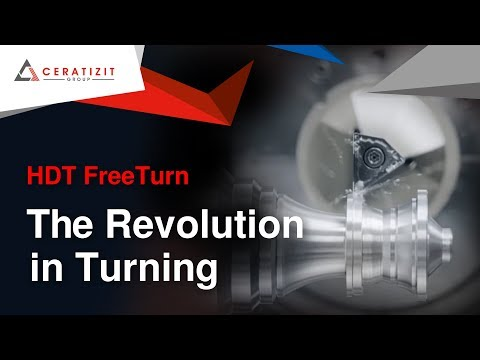 High Dynamic Turning (HDT) - FreeTurn Tool from CERATIZIT - The Revolution in Turning