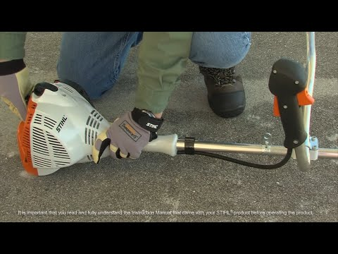 Stihl FS 56 C-E Lawn Trimmer in Kerrville, Texas - Video 1
