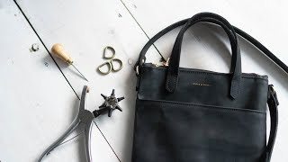 Making A Womens Leather Mini Tote Bag W/ Zipper