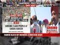 Farmers Block Highway Near Delhi, Mark Black Day On 100-Day Milestone - Video