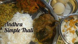 Veg Lunch Menu Recipes- Andhra Special Andhra Lunch Menu Recipes  simple South Indian Thali