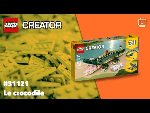 Vidéo LEGO Creator 31121 : Le crocodile