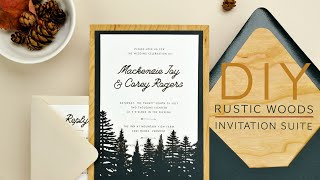 Easy DIY Rustic Wedding Invitations