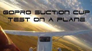 Gopro Suction Cup Mount on a Plane