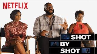 Tyler Perry, Crystal Fox & Bresha Webb Break Down A Fall From Grace Scene | Shot By Shot | Netflix