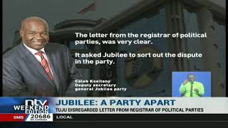 Jubilee party heads for a fresh showdown, Kositany promises a bruising battle