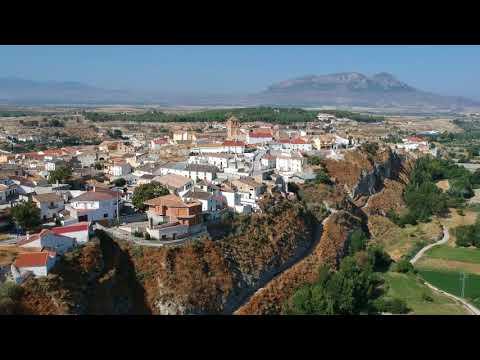 Benamaurel y pantano del negratin (Granada) vista desde dron