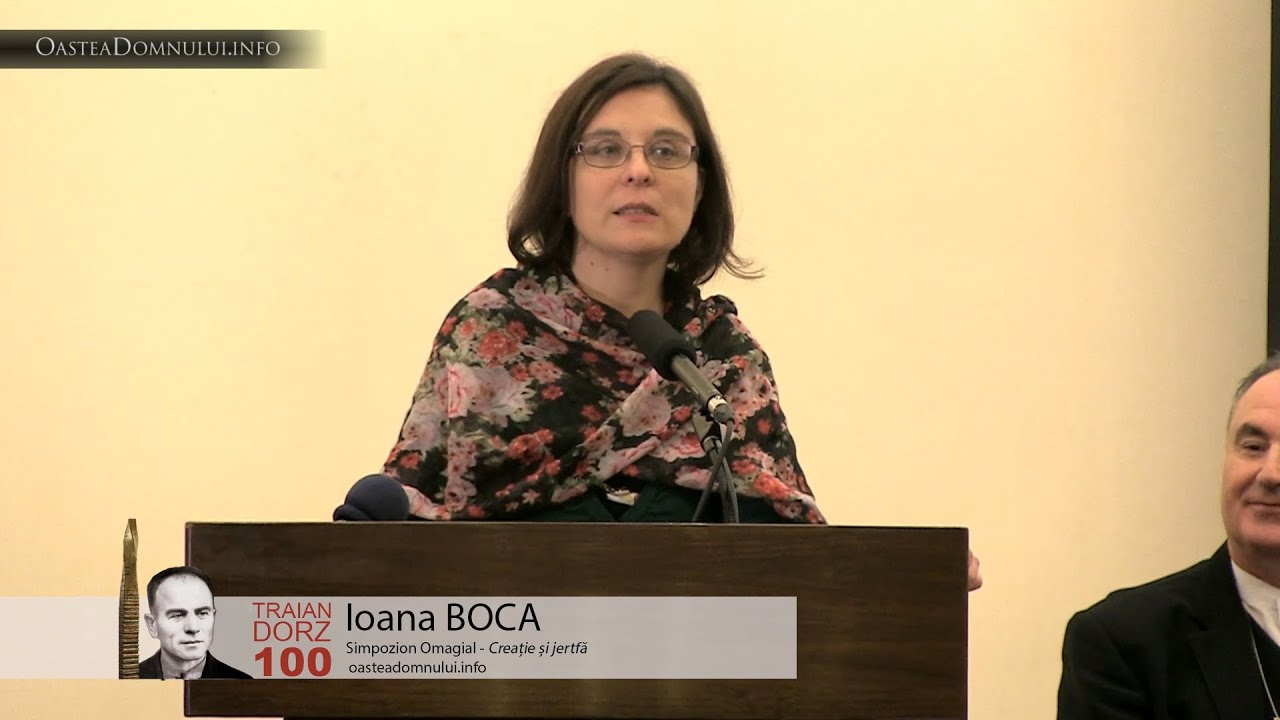 Ioana BOCA – Simpozion Omagial Traian Dorz 100 – Cluj, 12 sept. 2013