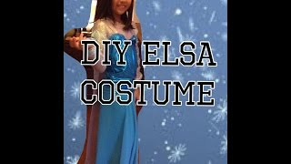 Amazing And Easy DIY Elsa From Frozen Costume!!!