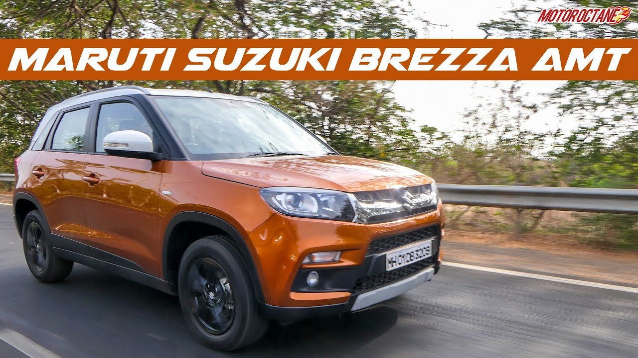Motoroctane Youtube Video - 2018 Maruti Vitara Brezza AMT Review in Hindi | MotorOctane