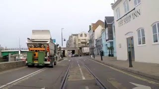 Along Weymouth Harbour Tramway (Quay Tramway or Harbour Tramway) mockup