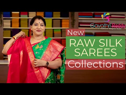 "<p style=""color: red"">Video : </p>NEW RAW SILK SAREES COLLECTIONS 