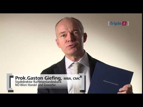 Prok. Gaston Giefing, MBA CMC / Stadtdirektor RLB NÖ Wien Handel und Gewerbe