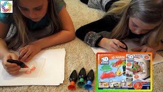 Набор для творчества 3d MAGIC toy MAKER, делаем объёмные зверюшки 3Д принтер игрушки мэйкер, Радужки