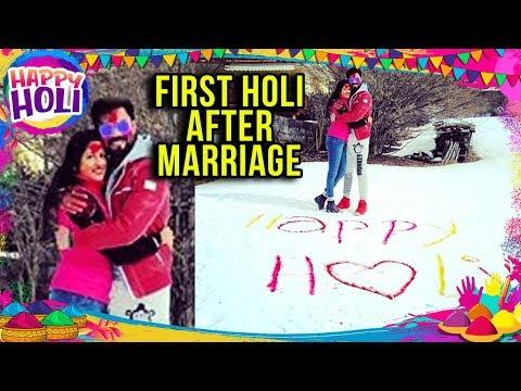 Gaurav Chopra And Wife Hitisha's FIRST HOLI After