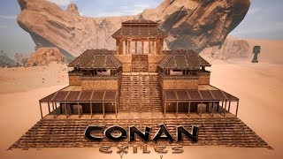 Video Conan Exiles  Building The Stone Keep Speed Build
