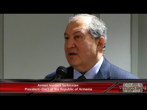 Armenia's President-elect Armen Sarkissian visited AGBU's Central Office in NY.