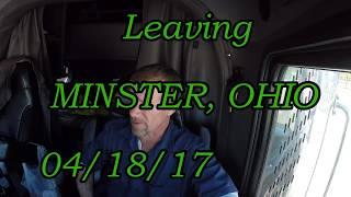 Leaving Minster Ohio