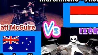 DJ./Duel drummer mat! McGuire vs ixora .. Adu skill