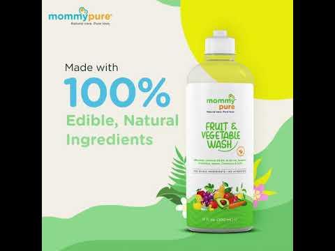 Mommy Pure Fruit and Vegitable wash, Natural Fruit and vegitable wash, Organic Non toxic and safe vegitable and Fruit wash video