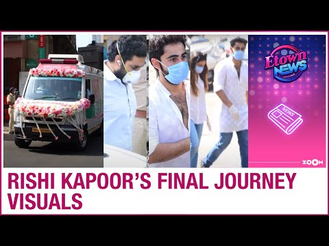 Rishi Kapoors final journey pictures and videos