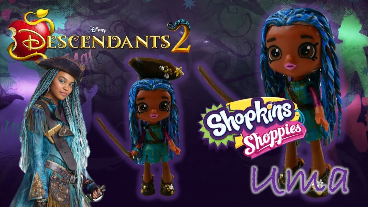 Disney Descendants 2 Movie UMA Shopkins Shoppie Doll Custom Toy Tutorial