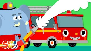 Here Comes The Fire Truck | Kids Songs | Super Simple Songs
