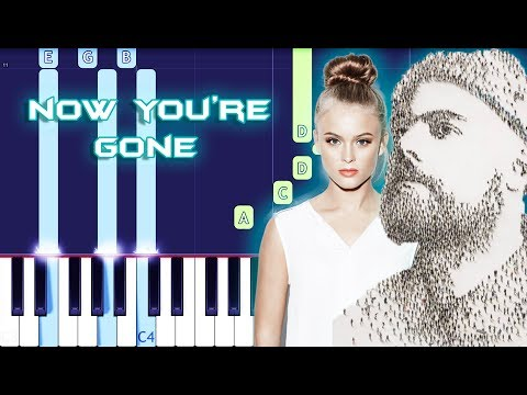 Tom Walker - Now You're Gone ft. Zara Larsson Piano Tutorial EASY (Piano Cover)