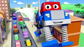 Carl the Super Truck is The Spring Truck in Car City  Trucks Cartoon for kids