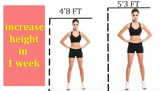 how to increase height in 15 Days | 4 Simple Exercise To Increase Height Naturally | gain height
