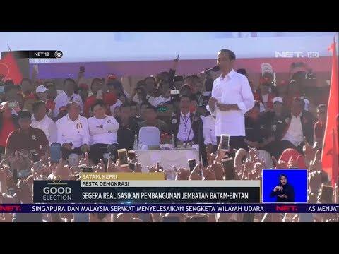 Good Election - Jokowi Berjanji Segera Realisasikan Pembangunan Jembatan Batam-Bintan