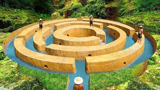 How To Build The Most Secret Underground Maze Swimming Pool To The Underground House