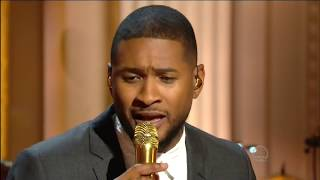 "Usher sings ""Georgia On My Mind"" Live Ray Charles Tribute 2016 in 1080p HD HQ."