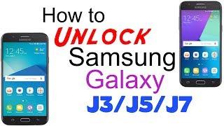 How to Unlock Samsung Galaxy J3 / J5 / J7 - AT&T, T-Mobile, Cricket, Xfinity Mobile, MetroPCS