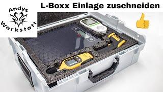 L-Boxx 136 Sortimo Einlage zuschneiden - Ordnung schaffen für Messgeräte