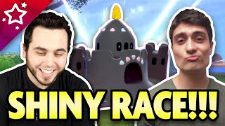 SHINY RACE with PokeaimMD! (Actually INSANE Shiny Luck!) by aDrive